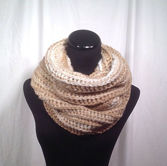 cheap mens shoes online in india Caramel Sparkle Infinity Chunky Crochet Scarf by DapperCatDesigns