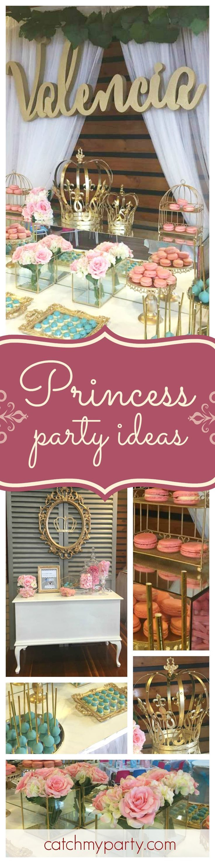 Take a look at this vintage princess birthday party. The dessert table and back drop are so pretty! See more party i deas and share yours at http://catchMyParty.com