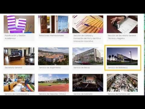 Cómo acceder a la Biblioteca desde la nueva página web de la Universidad de La Laguna