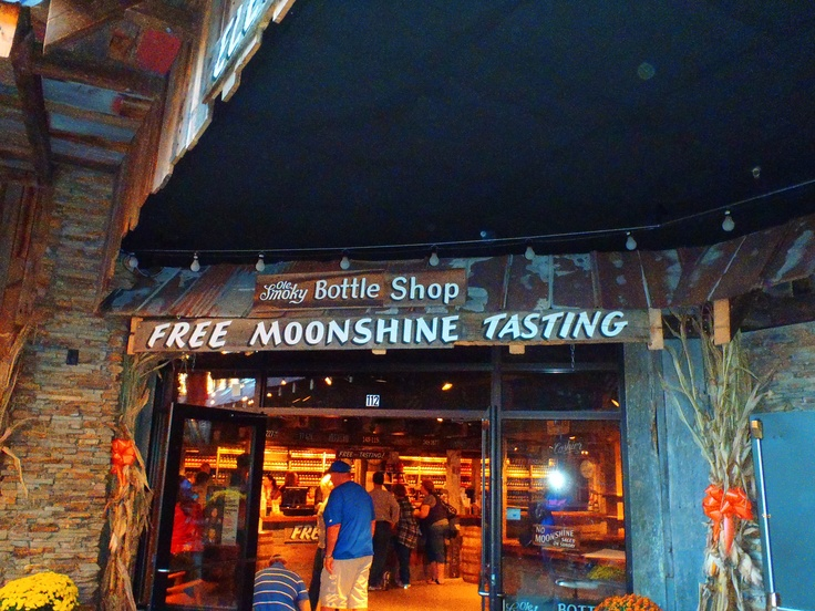 Gatlinburg Tennessee - Ole Smoky Moonshine Distillery. Stop in and try a sample. You can also see how Moonshine is made.