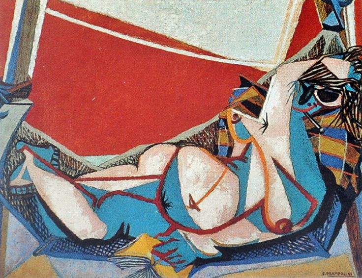 Enrico Prampolini - Cassandra - 1947 ca. - olio su tela - cm 89x116 - Roma GNAM