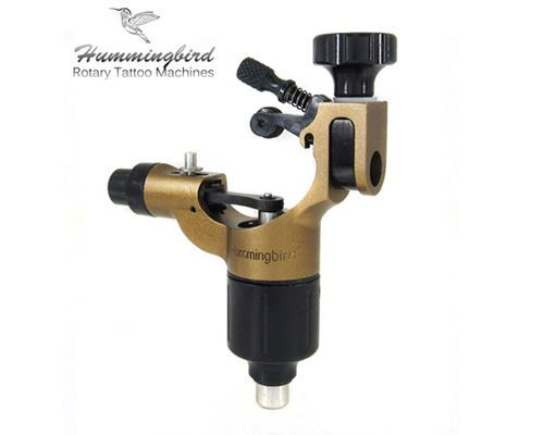 Tattoo Machines and Parts: Hummingbird Aluminum Rotary Tattoo Machine Rca Liner Shader Supply Ink (Bronze) BUY IT NOW ONLY: $149.99