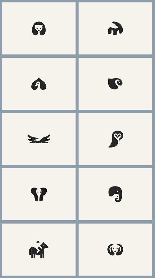 """would be cute as a """"spirit"""" animal tattoo these minimalist animals complete me! probably wouldn't get one because i don't feel that close to animals, but still"""