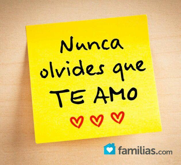 Te amo..