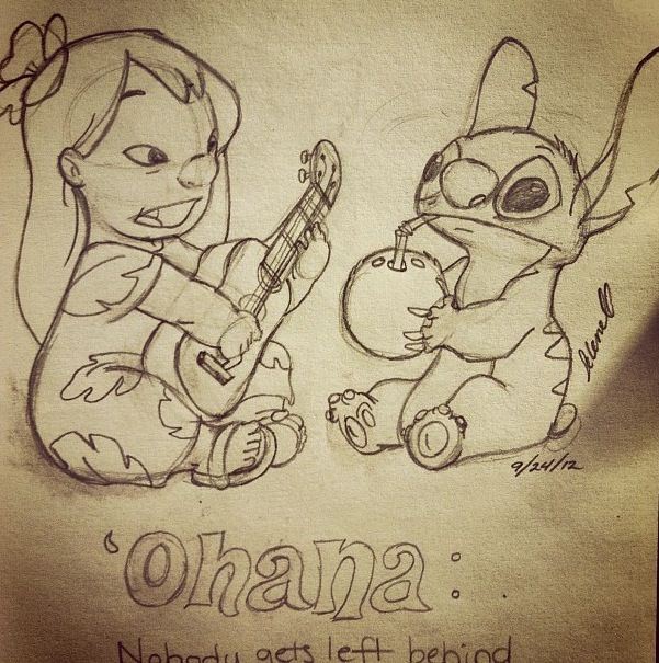 """""""Lilo and Stitch!"""" :D Being my favorite disney character, I had to draw Stitch in this scene~! -Sea Clearwater"""