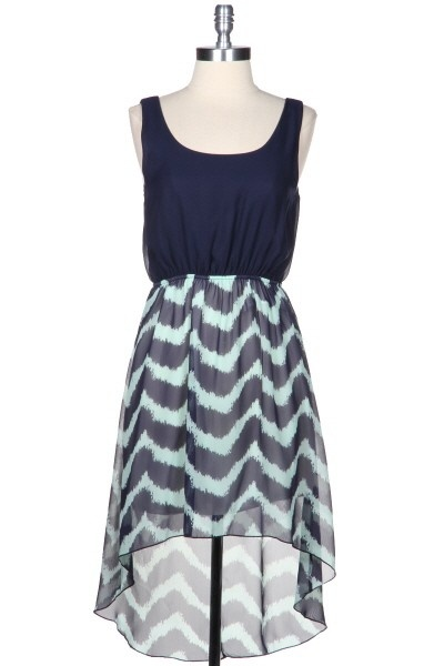 Kiki LaRue - California Girl Hi Low Dress - Navy and Mint, $46.00 (http://www.kikilarue.com/california-girl-hi-low-dress-navy-and-mint/)