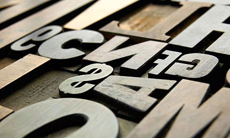 wooden type letters