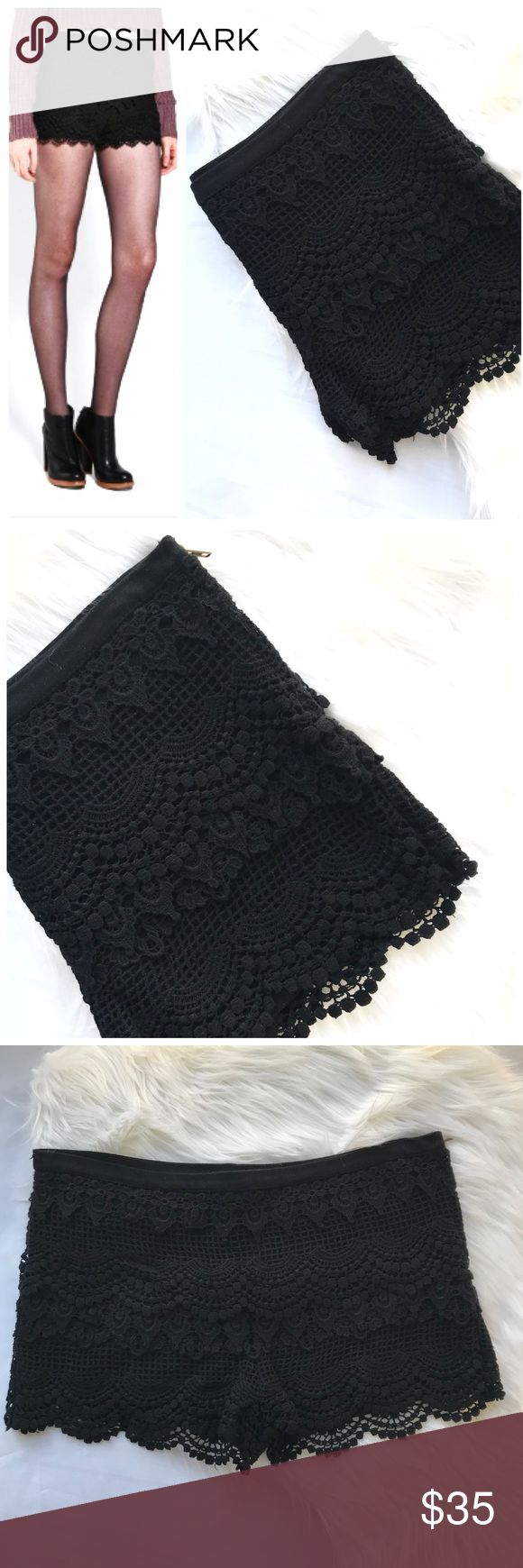 I just added this listing on Poshmark: Pins & Needles Black Crochet Shorts. #shopmycloset #poshmark #fashion #shopping #style #forsale #Pins & Needles #Pants