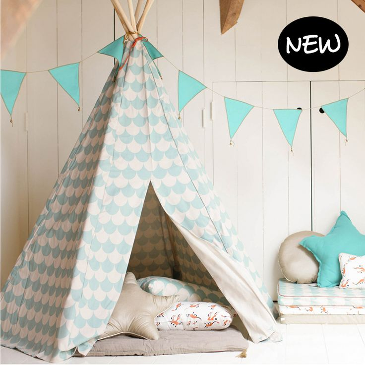 tipi tent 39 arizona 39 green scales nobodinoz te koop via. Black Bedroom Furniture Sets. Home Design Ideas