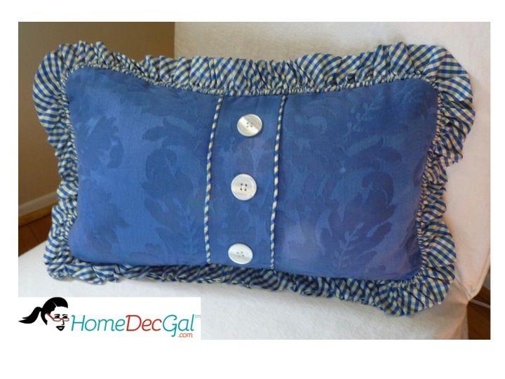 Pillow With Bias Cut Ruffled Welt Cord. Www.homedecgal.com
