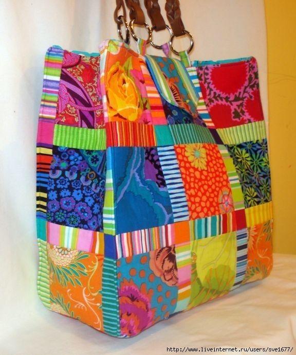 Kaffe Fasset fabrics - Bright coloured big bag
