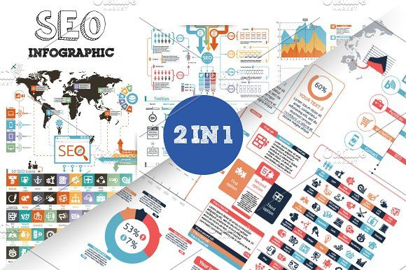 32% OFF SEO Infographic Bundle by Infographic Paradise on @creativemarket