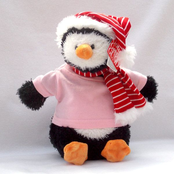 Personalised Gund Penguin Snowflake. Personalise his Pink -Shirt with your own personal message. http://www.bears4u.co.uk/Product-Info/index.php?Bearname_ID=458