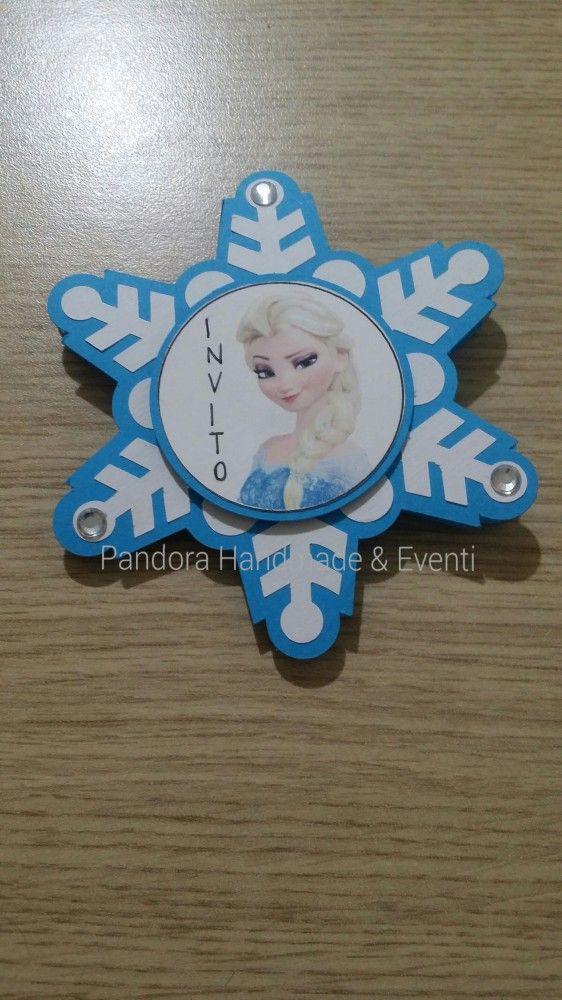 Invito Frozen per festa di compleanno  by Pandora Handmade & Eventi