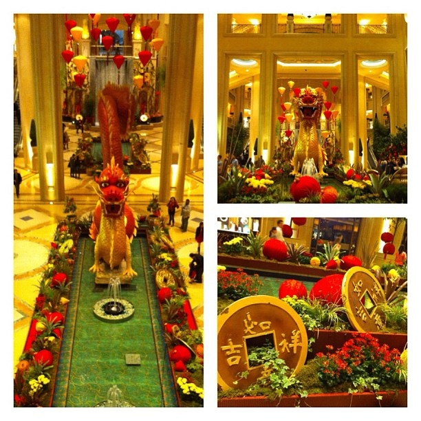Chinese New Year decorations at Palazzo Hotel and Casino ...