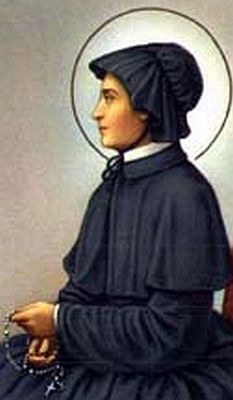 Saint Elizabeth Ann Seton, impoverished widow who converted Catholicism and founded a school that became a model for Catholic education in the US. First native US citizen to be canonized.