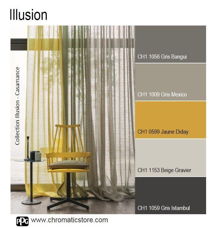 L'emploi du jaune en décoration est toujours source de luminosité et de gaieté. Idéal en cette période automnale! www.chromaticstore.com #déco #gris #jaune