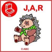 Interaktívna hra ABECEDA - Poznávam a priraďujem písmenká J,A,R