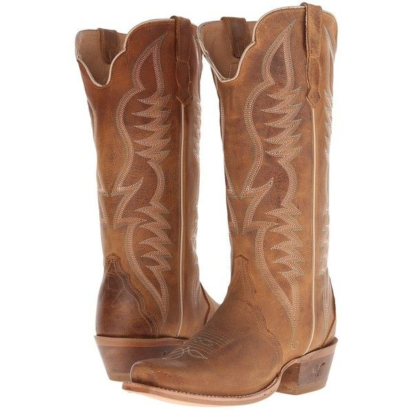 Old West Boots 70112 (Alamo Meil) Cowboy Boots featuring polyvore, women's fashion, shoes, boots, knee-high boots, square toe boots, long knee high boots, knee high cowboy boots, square toe western boots and fancy cowboy boots