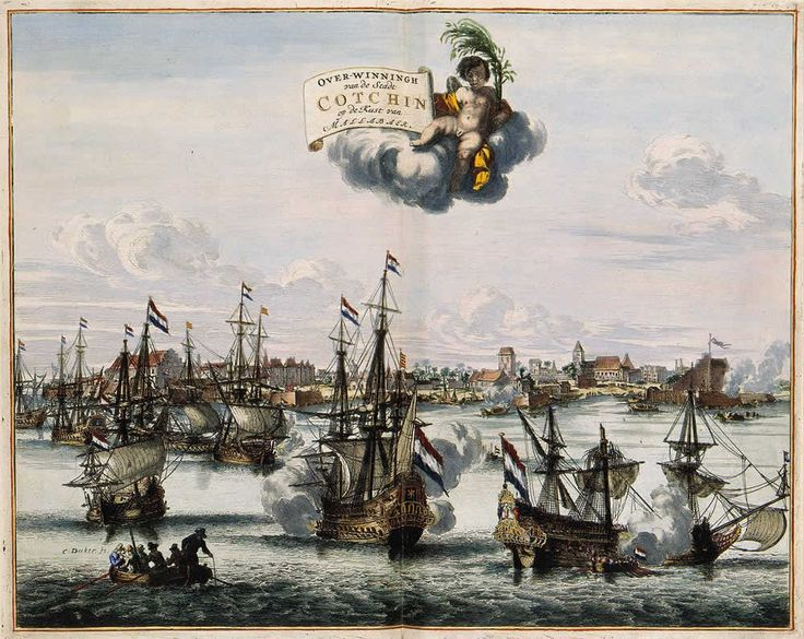 The-capture-of-Cochin-and-victory-of-the-Dutch-VOC-over-the-Portuguese-in-1656.-Atlas-van-der-Hagen.-No-Copyright.jpg (1000×795)