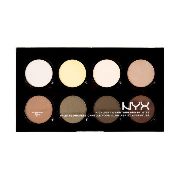 NYX PROFESSIONAL MAKEUP Highlight Contour Pro Palette ❤ liked on Polyvore featuring beauty products, makeup, face makeup, palette makeup, highlight face makeup, nyx cosmetics, nyx and nyx makeup