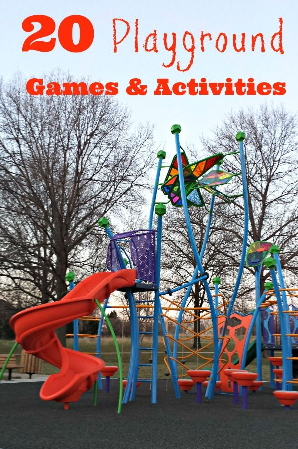 Fun ideas for your next visit to the playground!  sponsored by Voice of Play -- get the kids outside this weekend!