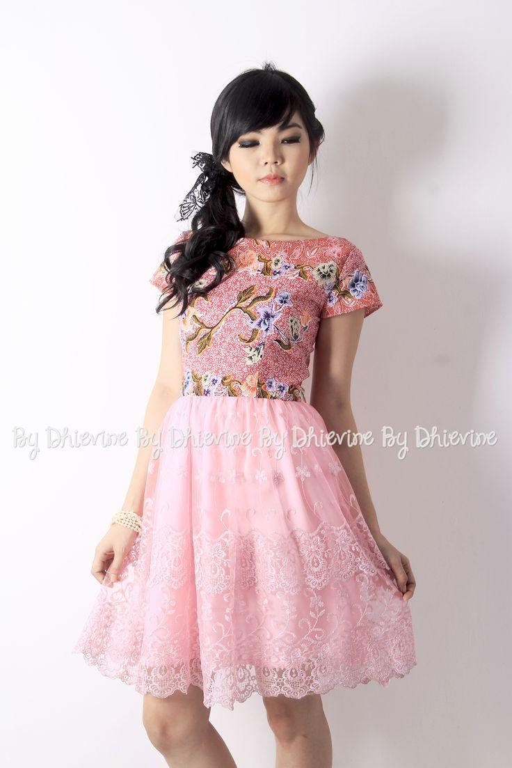 Batik dress | Kebaya Dress | Srigading Pink Dress | DhieVine | Redefine You