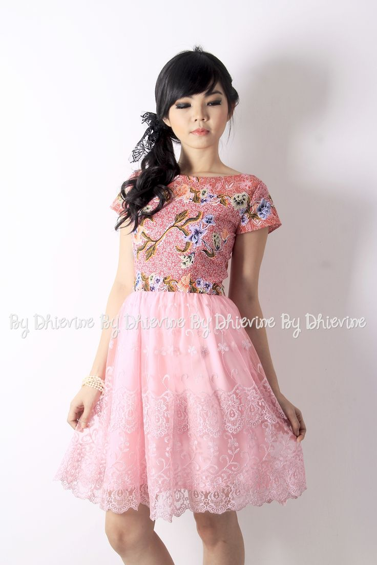 Batik dress | Kebaya Dress | Srigading Pink Dress | DhieVine | Redefine You