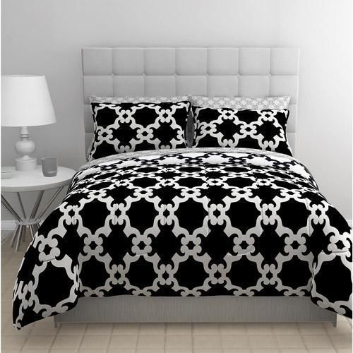 Twin Teen Black White Reversible Geometric Complete