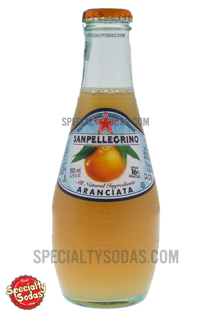"Product Description San Pellegrino Aranciata comes in a European-style 6.75 fl oz (200 mL) glass bottle with a classic label that reads, ""San Pellegrino. All Natural Ingredients. Aranciata. Contains 1"