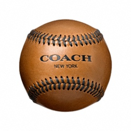 Coach leather baseball.... WHAT! This is amazing. Two great things