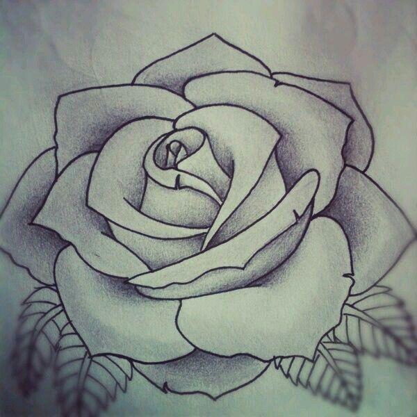 Resultado de imagem para rosa desenho tattoo