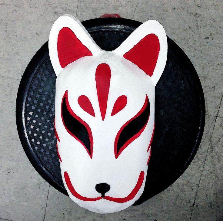 일본 여우가면 도색 -1