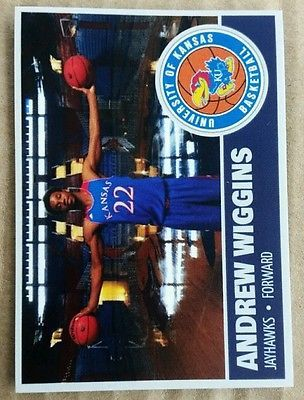 Andrew Wiggins Kansas Jayhawks  rc rookie sp custom card Minnesota timberwolves