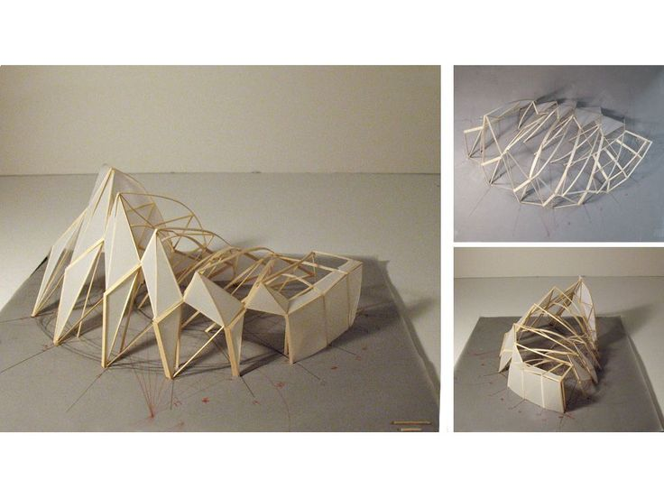 M-Yun : ferry terminal Pictures: complex shaped architecture Maquette: structure model made from wooden and glue Drawings: design of structural model and drawing of buildings from own pictures