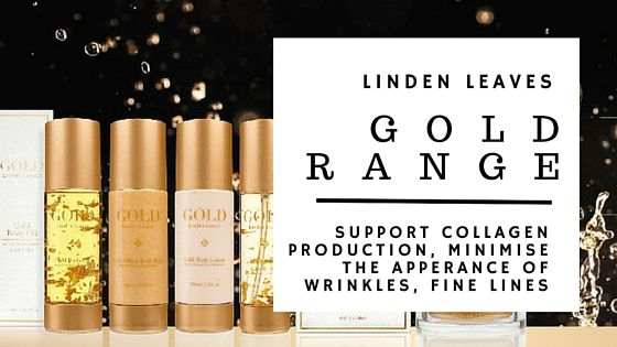I love the packaging on this, would look great on my nightstand  #lindenleavesgold #goldskincare