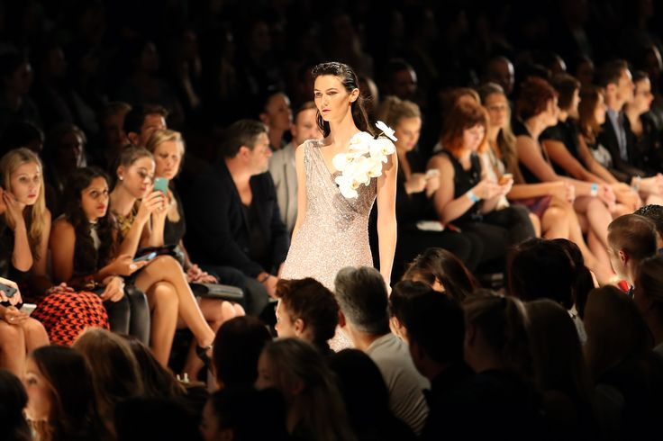 Win with Ziera! Win a trip for 2 to the Virgin Australia Melbourne Fashion Festival 2015, find out how to enter here http://zierashoes.com/page/Melbourne    Pictured: Rachel Gilbert's design on the runway at the 2014 Melbourne Fashion Festival.  #Win #VAMFF #ZieraShoes