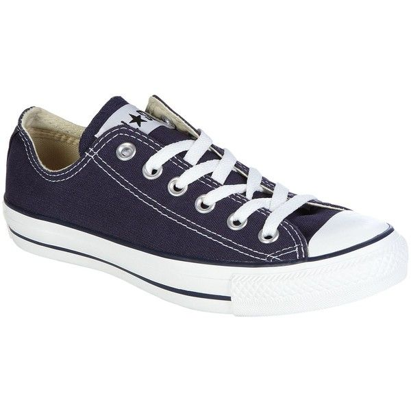 Converse Women's Chuck Taylor All Star Navy (435 GTQ) ❤ liked on Polyvore featuring shoes, sneakers, converse, sapatos, converse trainers, navy trainers, navy blue shoes, star sneakers and converse shoes