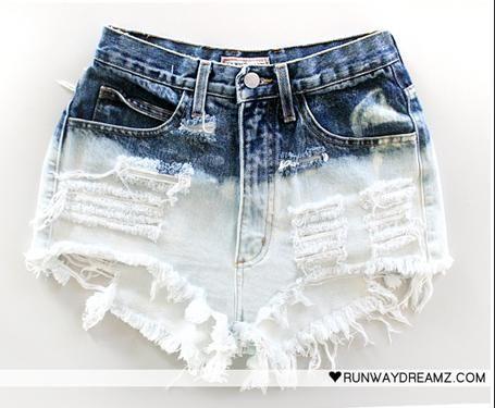 DIY: Bleached Studded Shorts DIY Clothes DIY Refashion