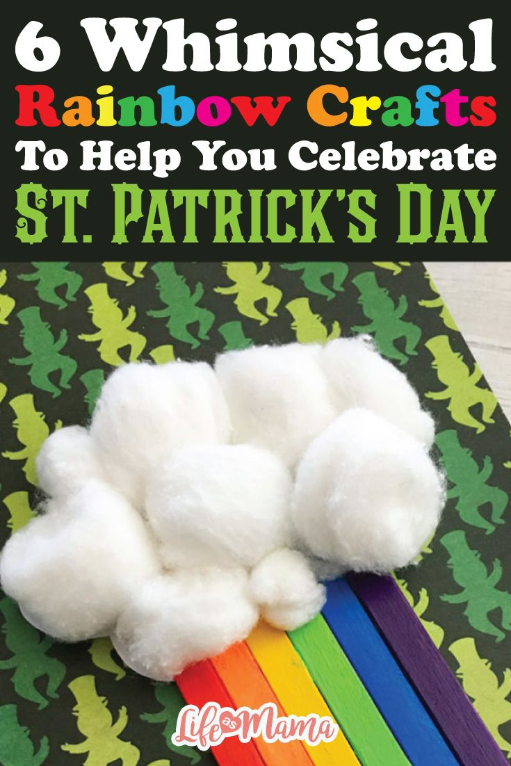 St. Patrick's Day is the perfect time to squeeze in a dose of ROYGBIV craftiness. So gather up your little leprechauns, set aside an afternoon and start making one of these colorfully fun and festive projects!