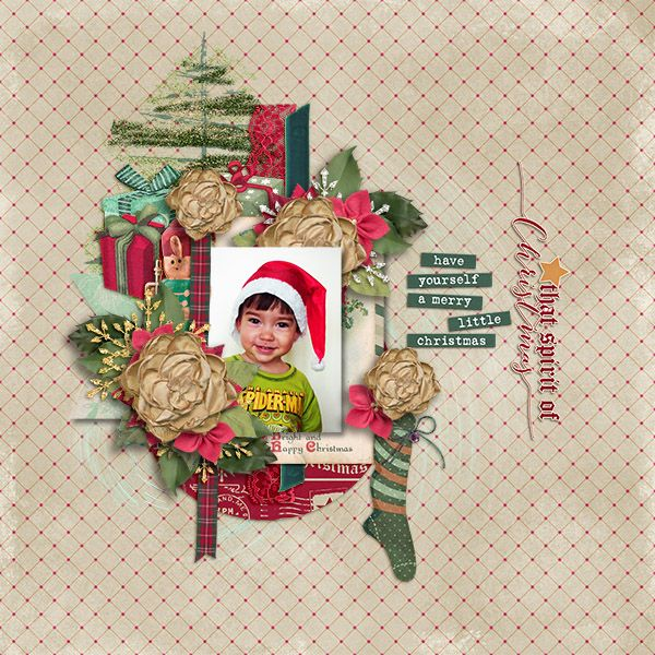 Vintage Christmas {complete kit} by Laurie Ann Frosty Flakes {element pack} by Laurie Ann 12 Days of Christmas Template by Eudora Designs