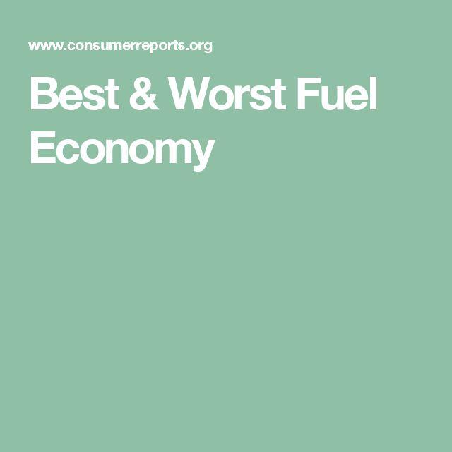 Best & Worst Fuel Economy