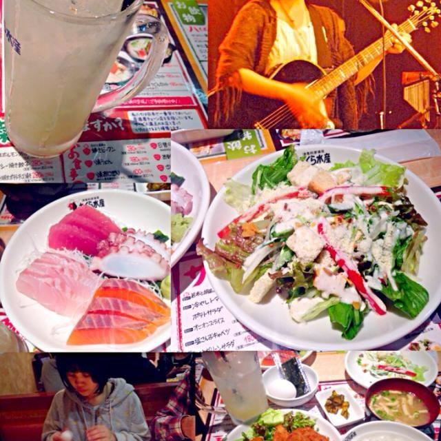 娘のLIVEで遅くなってしまったので会場のそばの さくら水産で深夜の晩餐 - 35件のもぐもぐ - 高田馬場の さくら水産で深夜の晩餐 by manilalaki