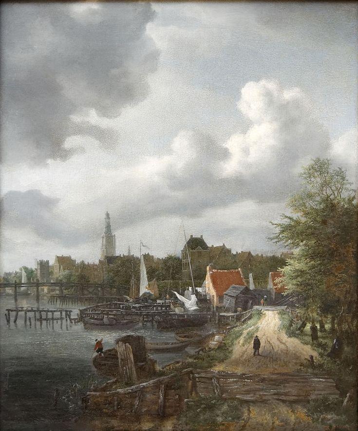 Jacob van Ruisdael - Gezicht op de Binnen-Amstel in Amsterdam