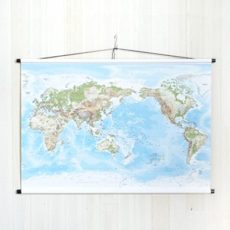8 best maps globes hangings images on pinterest world globes the medium sized pacific centred telegram world physical wall map is a highly detailed beautiful contemporary map of the world gumiabroncs Images