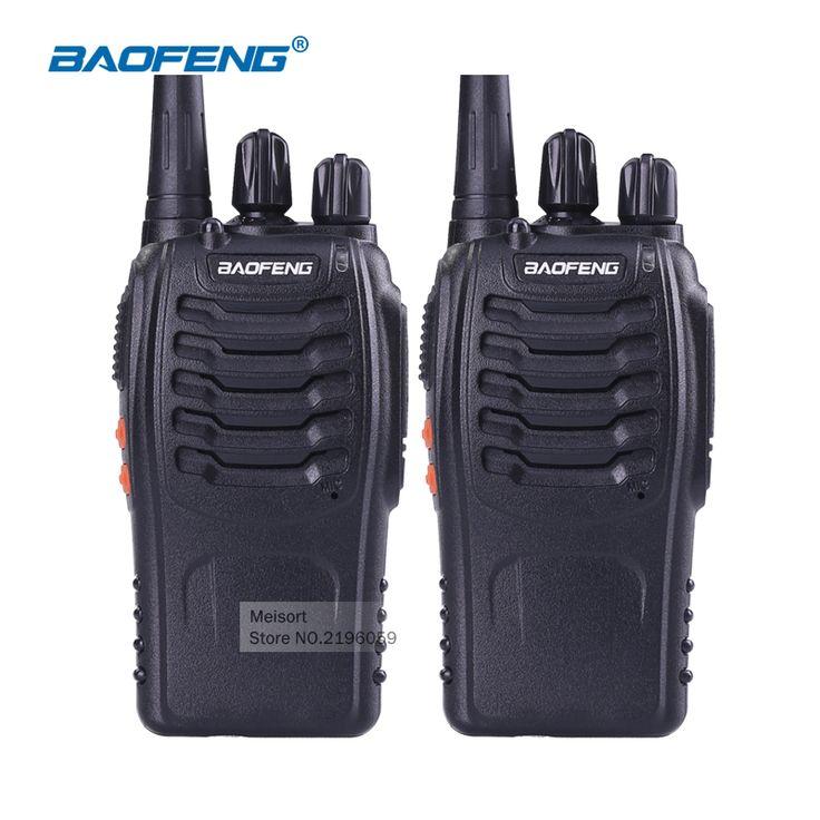 2pcs BaoFeng BF-888S UHF Rechargeable Walkie Talkies CB two Way Radio Communicator Portable Handheld Two Way Radio Transceiver