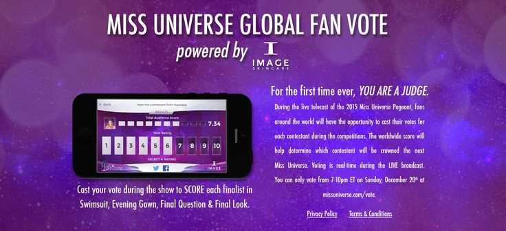 Miss Universe 2015 Global Fan Vote: You are a judge #missuniverse #missuniverse2015 #lasvegas