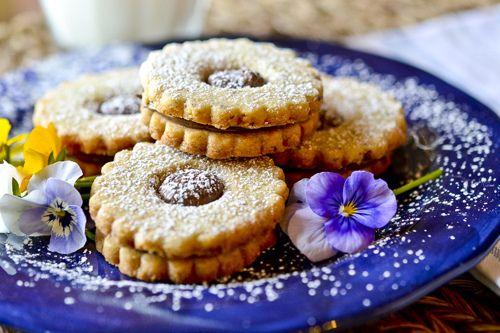 Chocolate Hazelnut Shortbread Cookies adapted from Barefoot Contessa ...