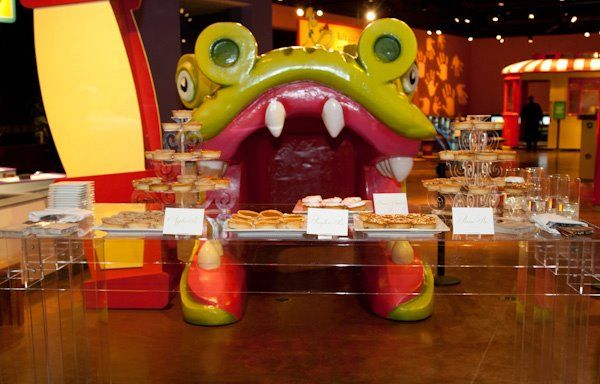 A mouthwatering pastry table set up just outside the Children's Museum.