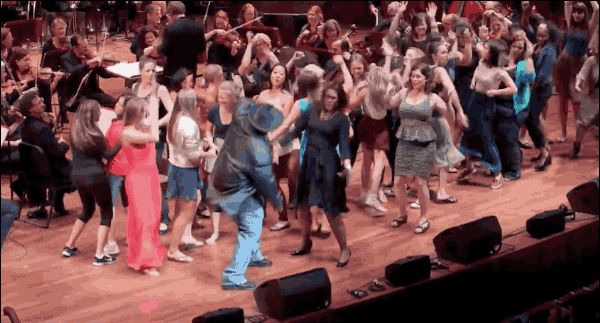 """They got, um, pretty into it. 